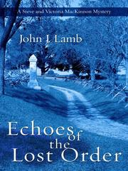Cover of: Echoes of the lost order