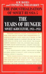 Cover of: The years of hunger |