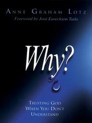 Cover of: Why? | Anne Graham Lotz