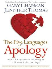 Cover of: The Five Languages of Apology | Gary Chapman
