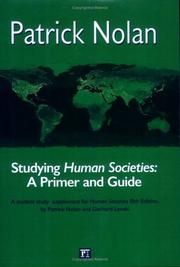Cover of: Studying Human societies