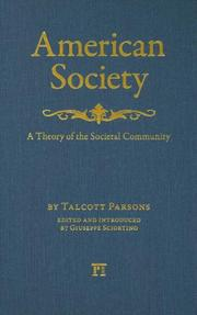 Cover of: American Society