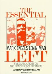 Cover of: The Essential left |