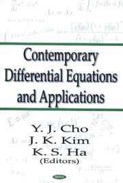 Cover of: Contemporary differential equations and applications | International Conference on Nonlinear Functional Analysis and Applications (7th 2001 Kyŏngsang Taehakkyo and Kyŏngnam Taehakkyo)