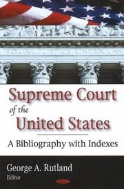 Cover of: Supreme Court of the United States | George H. Rutland