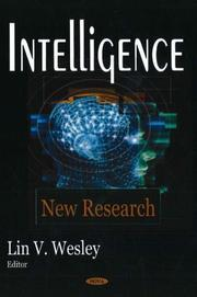 Cover of: Intelligence |