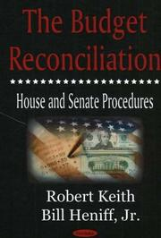 Cover of: The budget reconciliation