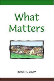Cover of: What Matters