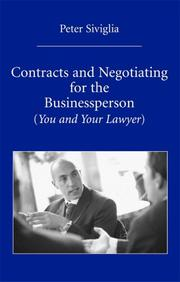 Cover of: Contracts and Negotiating for the Businessperson
