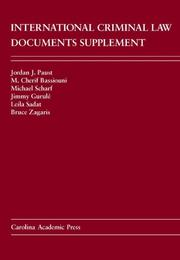 Cover of: International Criminal Law Documents