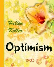 Cover of: Optimism | Helen Keller