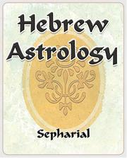 Cover of: Hebrew Astrology