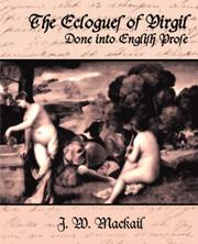 Cover of: The Ecloques of Virgil Done into English Prose
