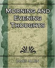 Cover of: Morning and Evening Thoughts