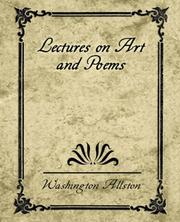 Cover of: Lectures on art, and poems