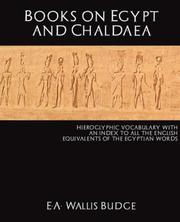 Cover of: Books on Egypt and Chaldaea