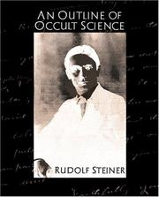 Cover of: An outline of occult science