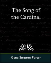 Cover of: The Song of the Cardinal | Gene Stratton-Porter