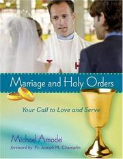 Cover of: Marriage and Holy Orders