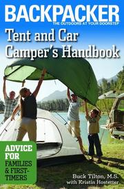 Cover of: Tent and car campers handbook: advice for families & first-timers