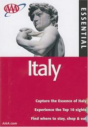 Cover of: AAA Essential Italy, 4th Edition (Essential Italy)