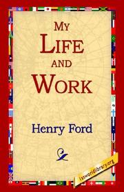 Cover of: My Life And Work | Henry Ford