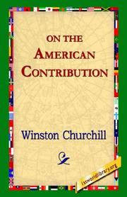 Cover of: On The American Contribution