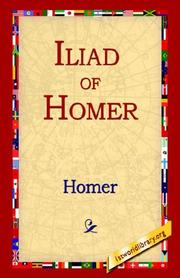 Cover of: Iliad Of Homer by Homer