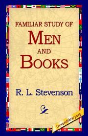 Cover of: A Familiar Study Of Men And Books | Robert Louis Stevenson
