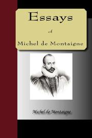 Cover of: ESSAYS of Michel de Montaigne