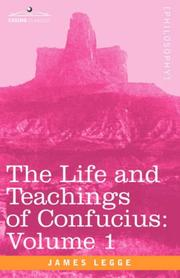 Cover of: The life and teachings of Confucius