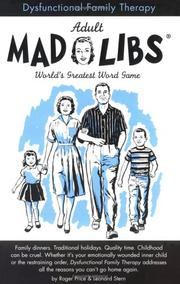 Cover of: Dysfunctional Family Therapy (Mad Libs) | Roger Price