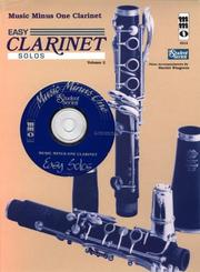 Cover of: Music Minus One Clarinet: Easy Clarinet Solos, Vol. II | Harriet Wingreen