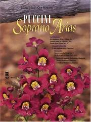 Cover of: Music Minus One Soprano: Puccini Arias for Soprano with Orchestra, Vol. 1 (Book & CD)