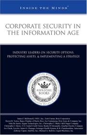 Cover of: Corporate Security in the Information Age | Aspatore Books