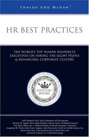 Cover of: HR Best Practices | Aspatore Books