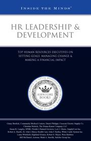 Cover of: HR Leadership & Development | Aspatore Books Staff