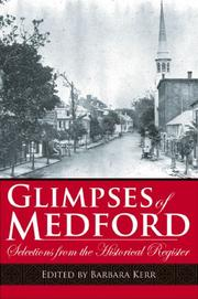Cover of: Glimpses of Medford