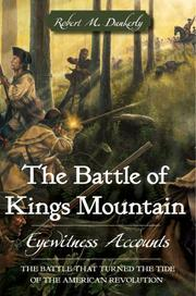 Cover of: The Battle of Kings Mountain