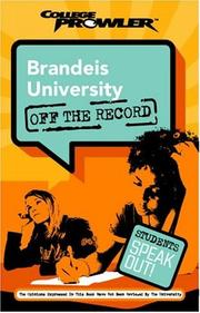 Cover of: Brandeis University: Off the Record