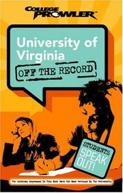 Cover of: University of Virginia: Off the Record | Miriam Nicklin