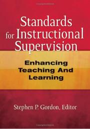 Cover of: Standards for Instructional Supervision | Stephen P. Gordon