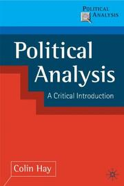 Cover of: Political Analysis