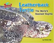 Cover of: Leatherback turtle