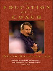 Cover of: The education of a coach | David Halberstam