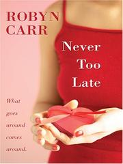 Cover of: Never Too Late