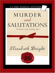 Cover of: Murder and Salutations | Elizabeth Bright