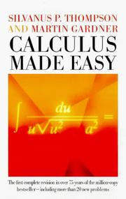 Cover of: Calculus made easy