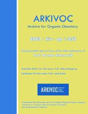 Arkivoc 2003 (Xiv) Commemorative for Prof. Branko Stanovnik