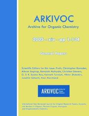 Cover of: Arkivoc 2005 (Xiv) General Papers |